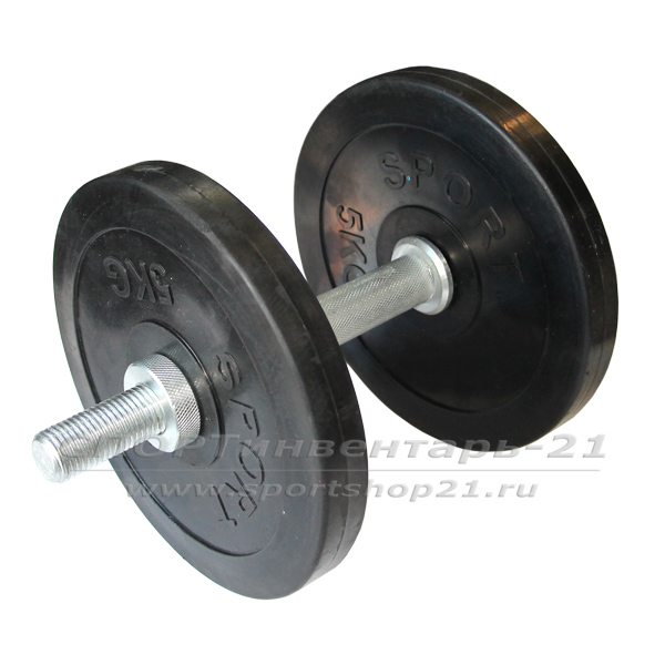 Гантель обрезиненная разборная 12 кг (ЭКОНОМ)