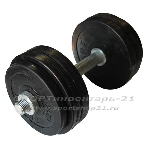gantel obrezinennaya razbornaya 14,5 kg (funktsional)