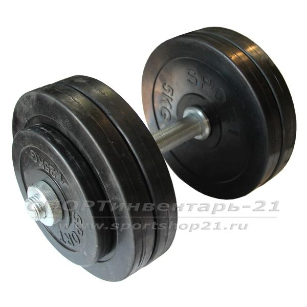 gantel obrezinennaya razbornaya 24,5 kg (ekonom)