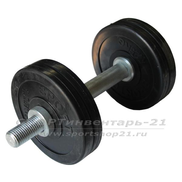 Гантель обрезиненная разборная 7 кг (ФУНКЦИОНАЛ)