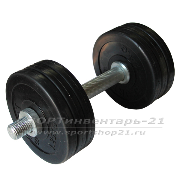 gantel obrezinennaya razbornaya 9,5 kg (funktsional)