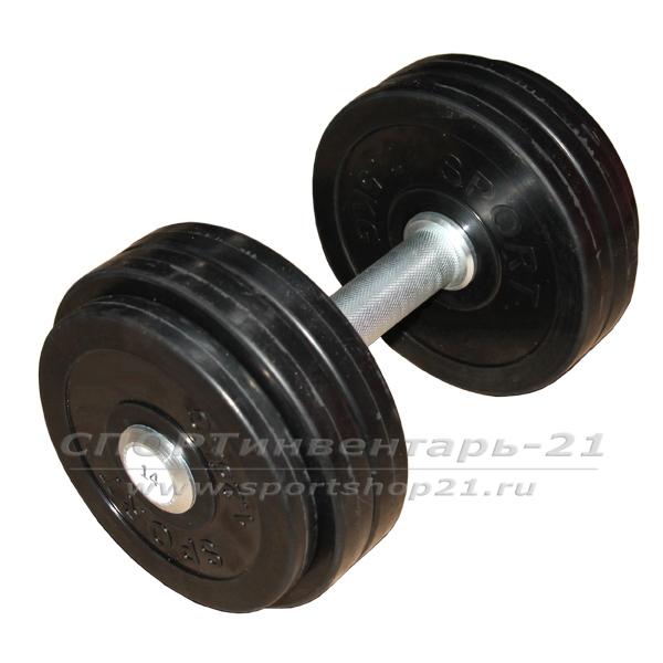 gantel professionalnaya obrezinennaya 14 kg nerazbornaya