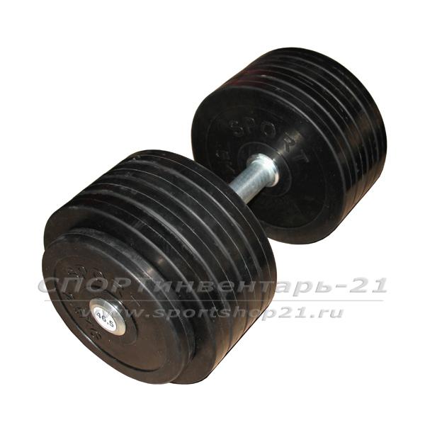 gantel professionalnaya obrezinennaya 46,5 kg nerazbornaya