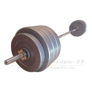 Штанга 60 кг с композитными дисками 26 мм
