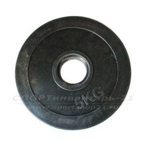 Диск обрезиненный (стальная втулка) d-51мм 5кг