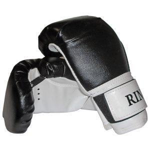 Боксерские перчатки RING черные фото