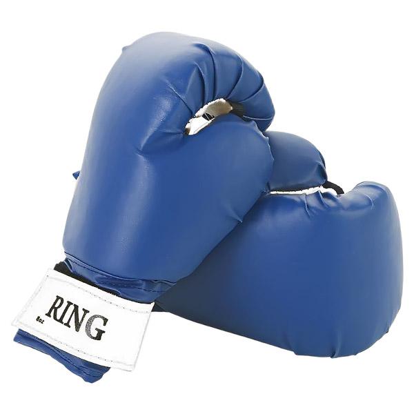 Боксерские перчатки RING синие фото