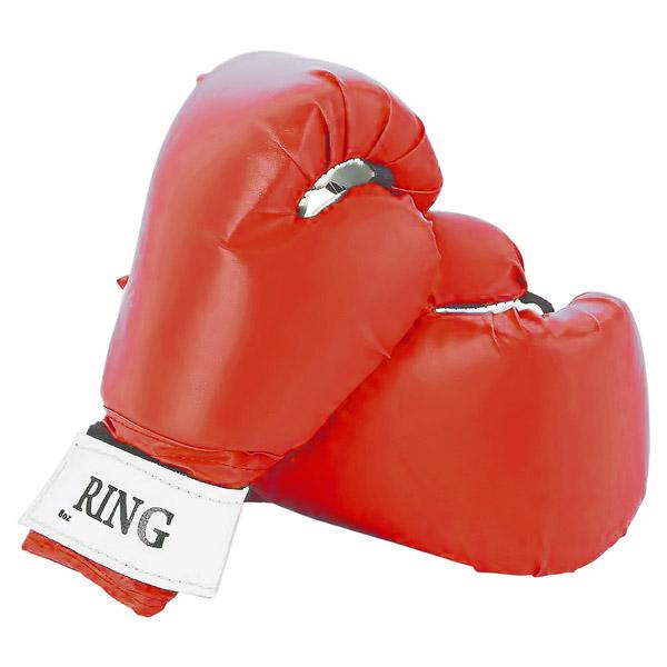 Боксерские перчатки RING красные фото