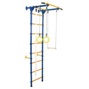 Детский спортивный комплекс пристенный А-04-Лайт синий