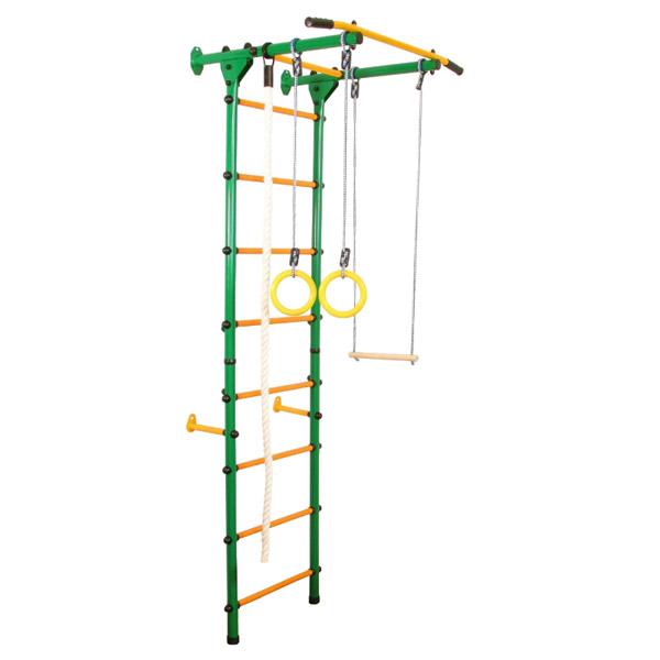 Детский спортивный комплекс пристенный А-04-Лайт зеленый