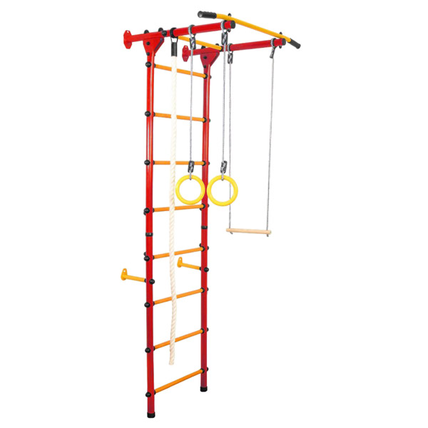 Детский спортивный комплекс пристенный А-04-Лайт красный