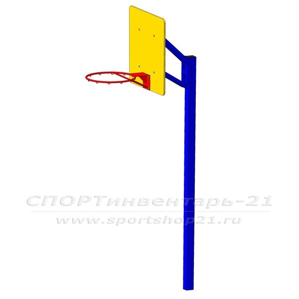 Стойка баскетбольная с щитком фото