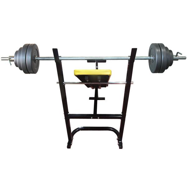 Силовая скамья со стойками DFC D003_1 + штанга 30 кг