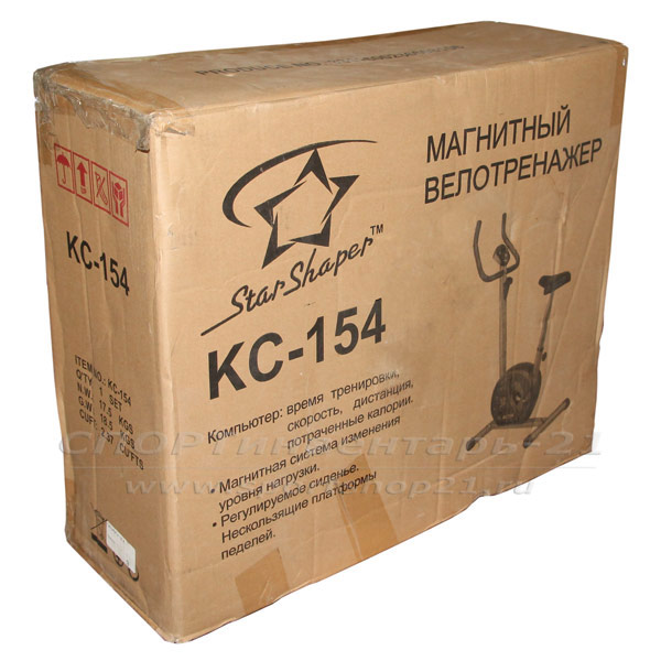 Велотренажер КС-154 фото упаковки