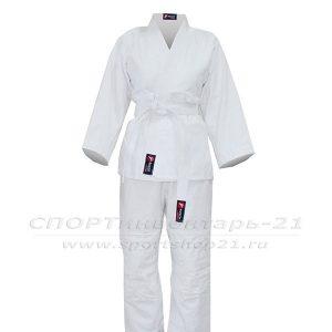 Кимоно дзюдо белое, рост 110-164 см