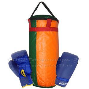 Набор боксерский детский (мешок 30см, перчатки тренировочные)