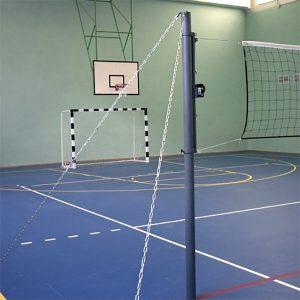 Стойки волейбольные на растяжках М52В фото