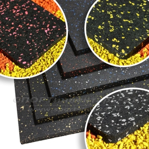 Рулонное резиновое напольное покрытие АНТ Микс 15%