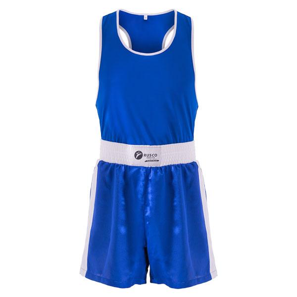 Форма боксерская BS-101 детская (шорты+майка) синяя