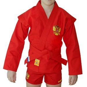 Куртка для борьбы (облегченная) Крепыш красная