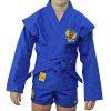 Куртка для борьбы (облегченная) синяя/красная, р.26-44