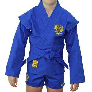 Куртка для борьбы (облегченная) Крепыш синяя