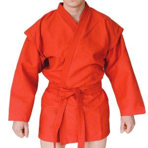 Куртка Самбо С4 синяя/красная, рост 110-200см