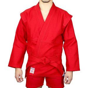 Куртка для борьбы самбо АТАКА красная