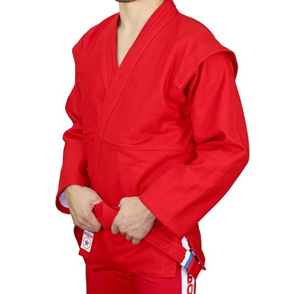 Куртка для борьбы самбо АТАКА красная фото