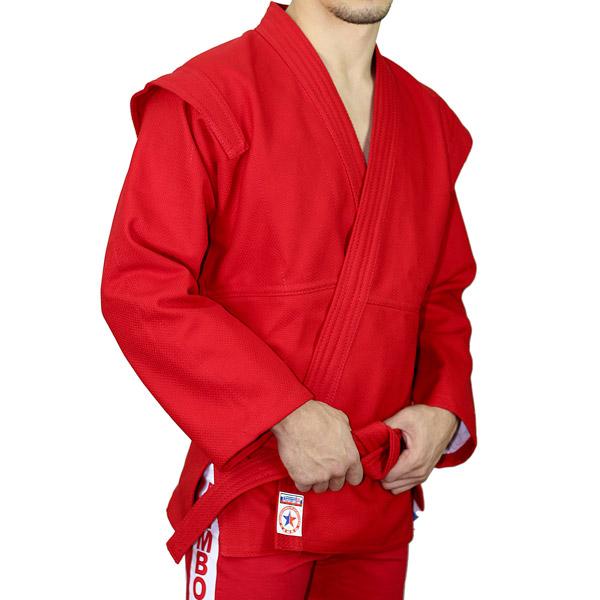 Куртка для самбо АТАКА красная фото