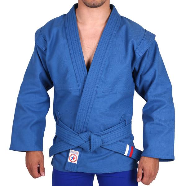 Куртка для борьбы самбо АТАКА синяя