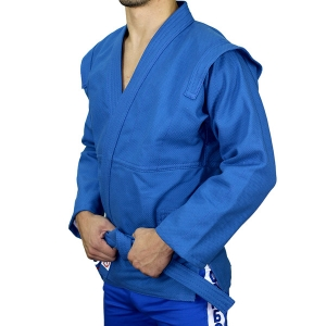 Куртка для борьбы самбо АТАКА синяя фото