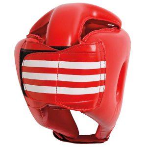 Шлем боксерский adiBH01 красный фото