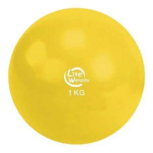 Медбол 1кг 1701LW (желтый d-11см)