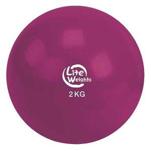 Медбол 2кг 1702LW (вишневый d-14см)