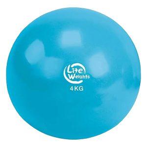 Медбол 4кг 1704LW (голубой d-18см)