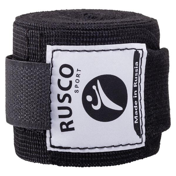 Бинт боксерский 3,5 метра (хлопок) Rusco черный фото