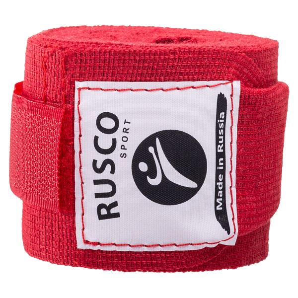 Бинт боксерский 3,5 метра (хлопок) Rusco красный фото