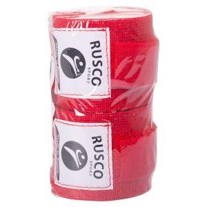Бинт боксерский 3,5 м (хлопок) Rusco красный фото