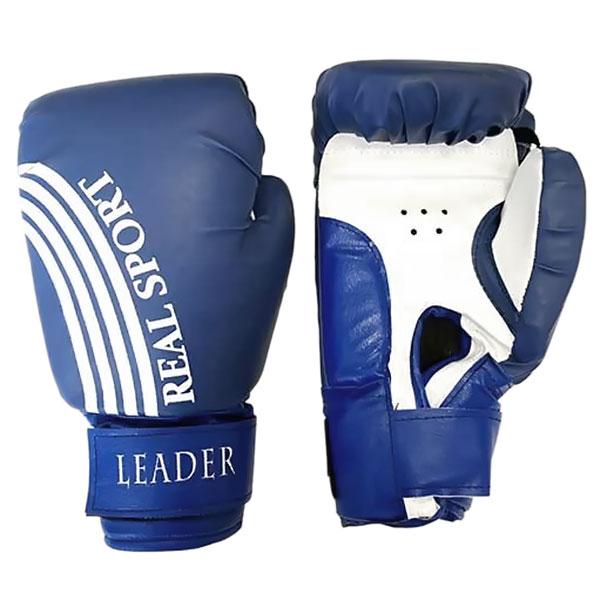 Боксерские перчатки Leader синие
