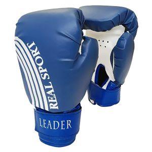 Боксерские перчатки Leader синие фото