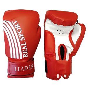 Боксерские перчатки Leader красные