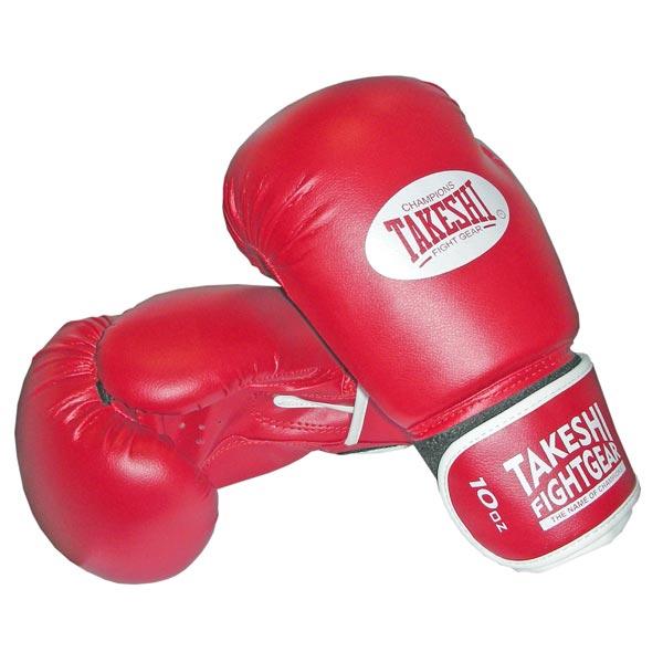 Перчатки боксерские Takeshi (10, 12 oz) TFG-11-31 красные