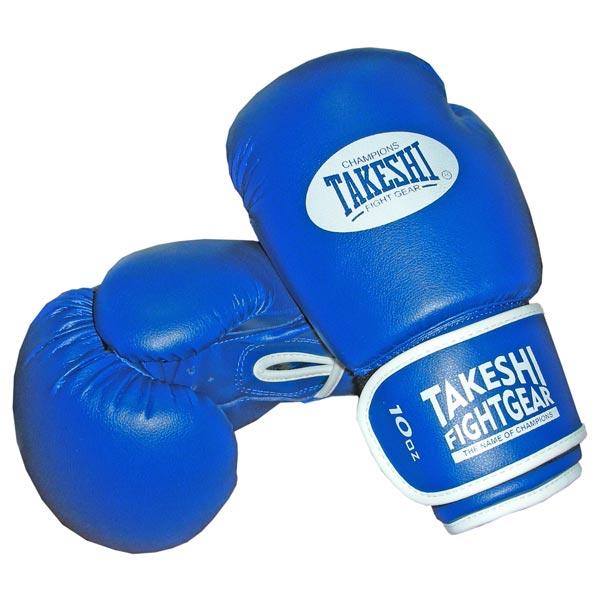 Перчатки боксерские Takeshi (10, 12 oz) TFG-11-31 синие