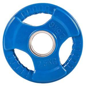 Диск обрезиненный цветной d-51мм ZSO 3 HANDLE, 2,5 кг