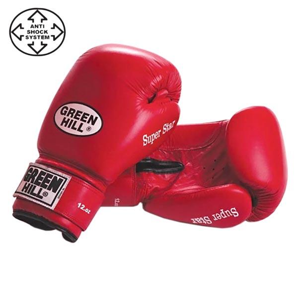 Перчатки боксерские Green Hill Super Star BGS-1213с красные