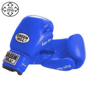 Перчатки боксерские Green Hill Super Star BGS-1213с синие
