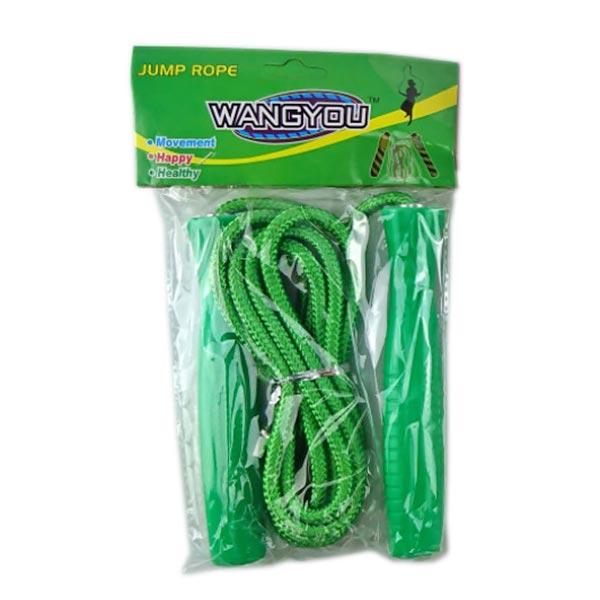 Скакалка WANGYOU, пластиковые ручки зеленые