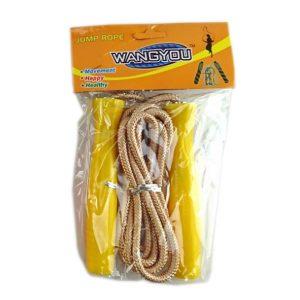 Скакалка WANGYOU, пластиковые ручки желтые
