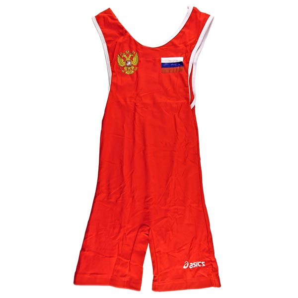 Трико борцовское ASICS (Russia) красное